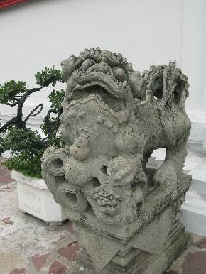 Wat Po dragon. Драконы в скульптуре Таиланда