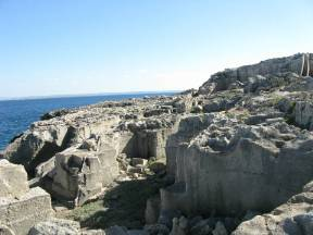 Rock and underground complex of Favignana (Sicilia, Italy)