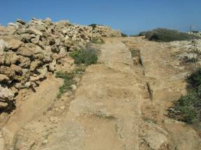 Roads and cart ruts of Favignana (Sicilia, Italy)