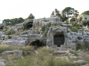 Archeological park Neapolis, Tomba di Archimede (Siracusa, Italy)